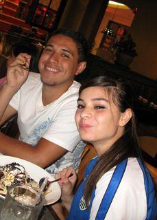 Ruben & Bekah sharing dessert!