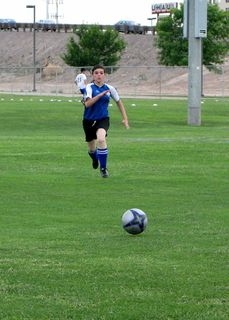 Bekah Boo chasing the ball!