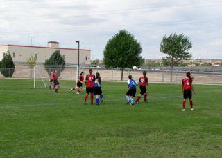 Bekah at soccer tournament