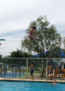Isabella jumping